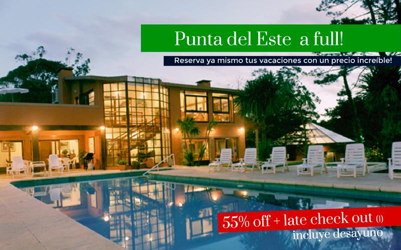 Punta del Este 55% OFF + Late Check Out y Desayuno!