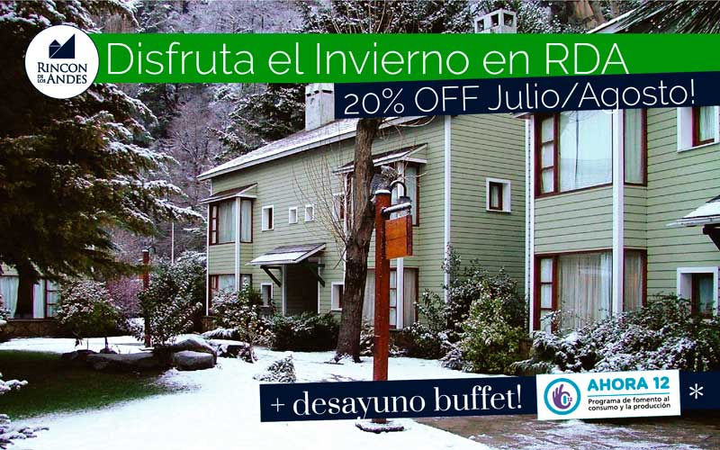 San Martín de los Andes 20% OFF Julio/Agosto + Desayuno Buffet!