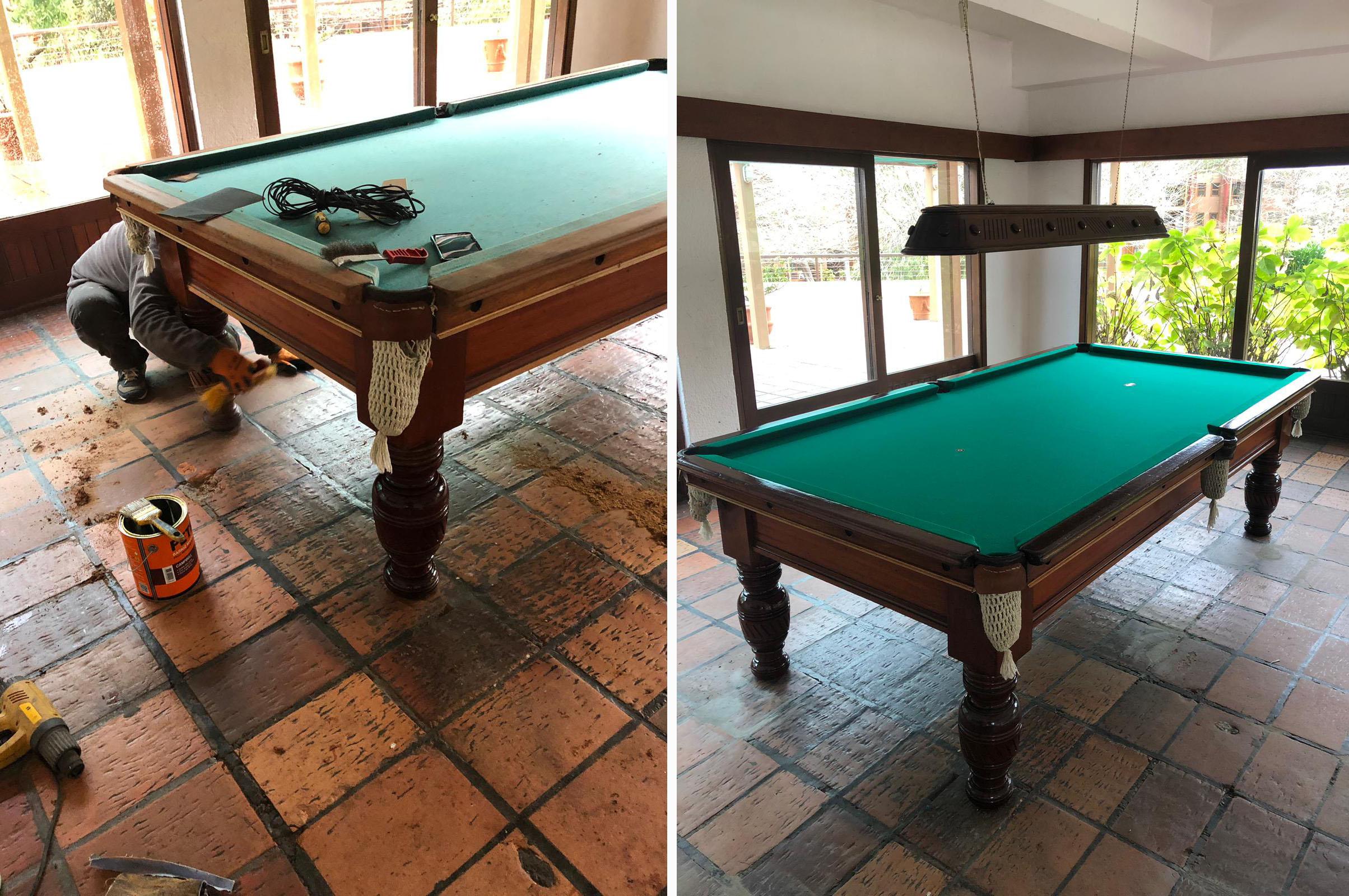 ¡Mesa de pool renovada!