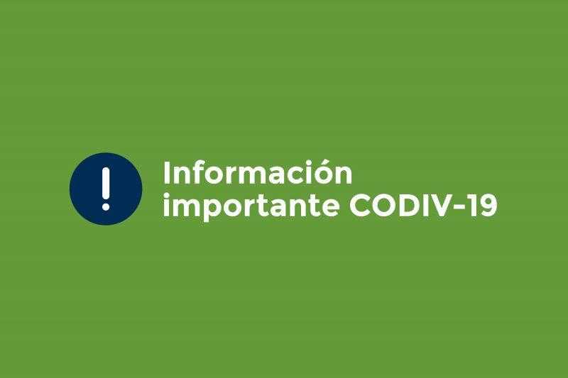 INFORMACIÓN IMPORTANTE COVID-19