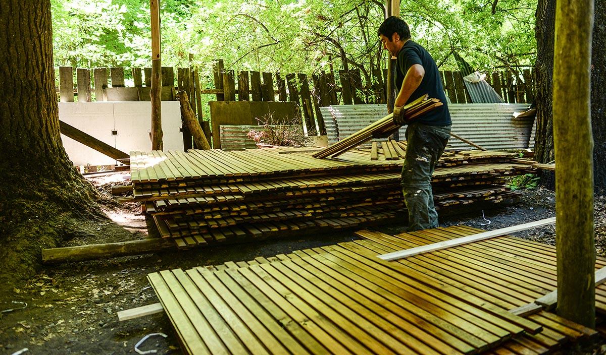 proceso deck mucha madera